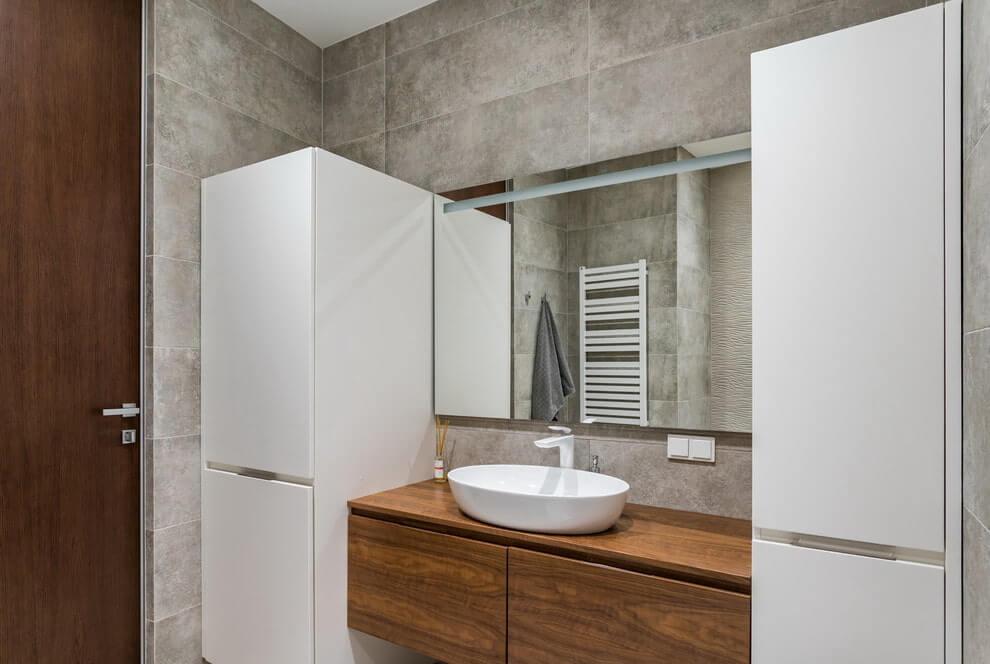 Дизайн ванной комнаты из дерева.8