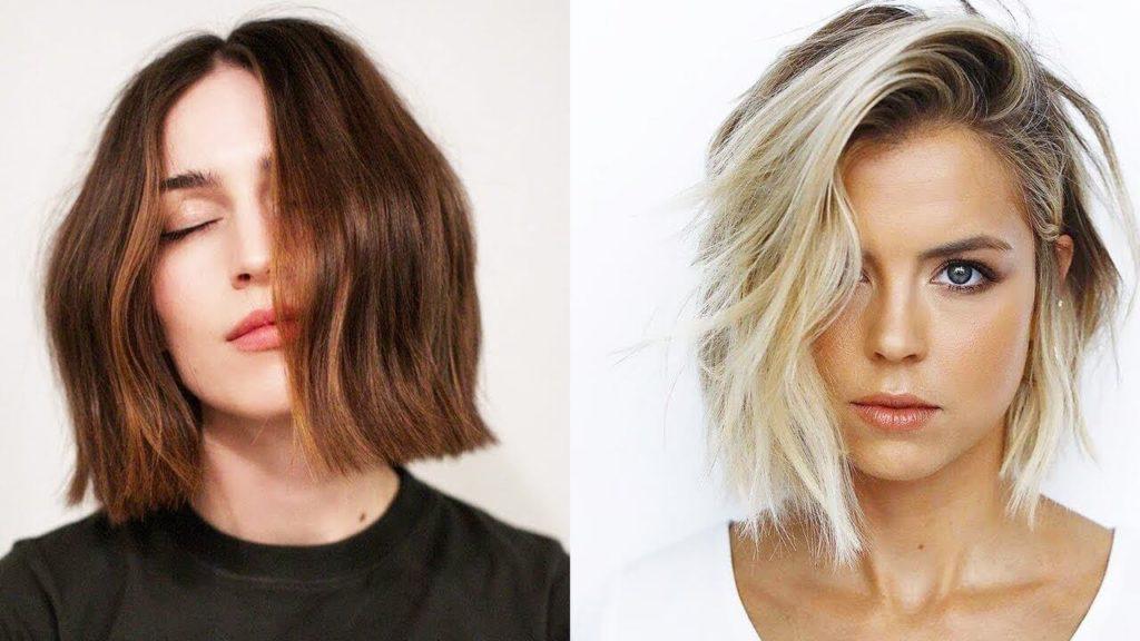 17 женских стрижек на волосы средней длины.14