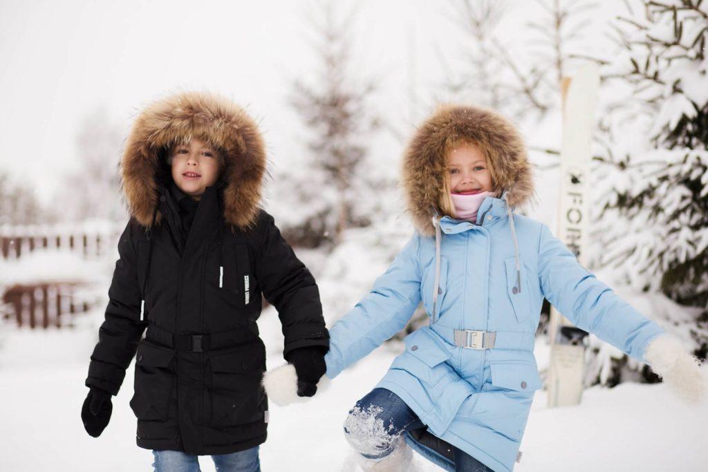 Модная коллекция зимней детской одежды.