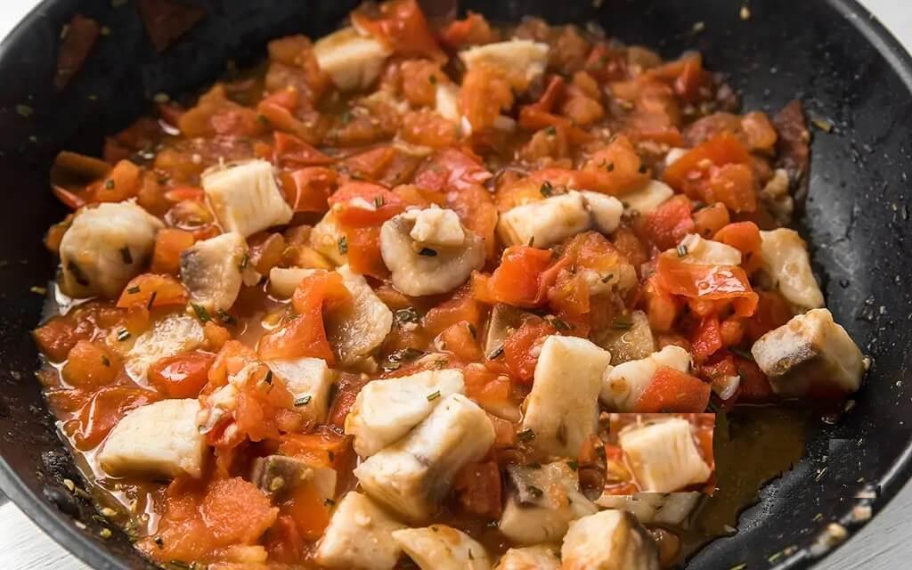 Нежнейшая рыба Тилапия с томатами и розмарином.8