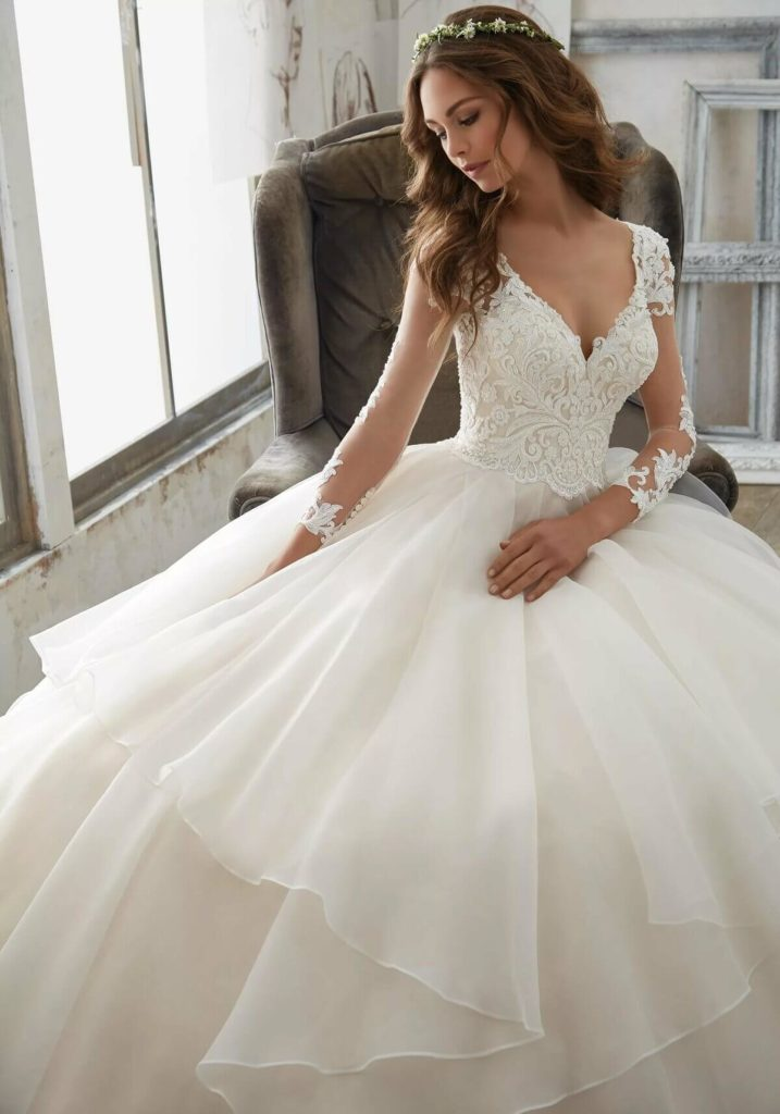Свадебные платья – модные тренды сезона.7