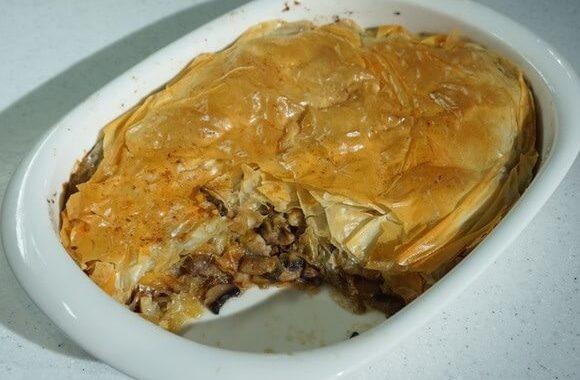 Очень вкусный Пирог с грибами и луком.