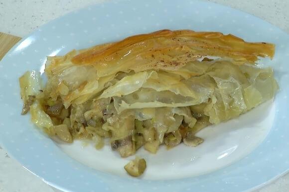 Очень вкусный Пирог с грибами и луком.1
