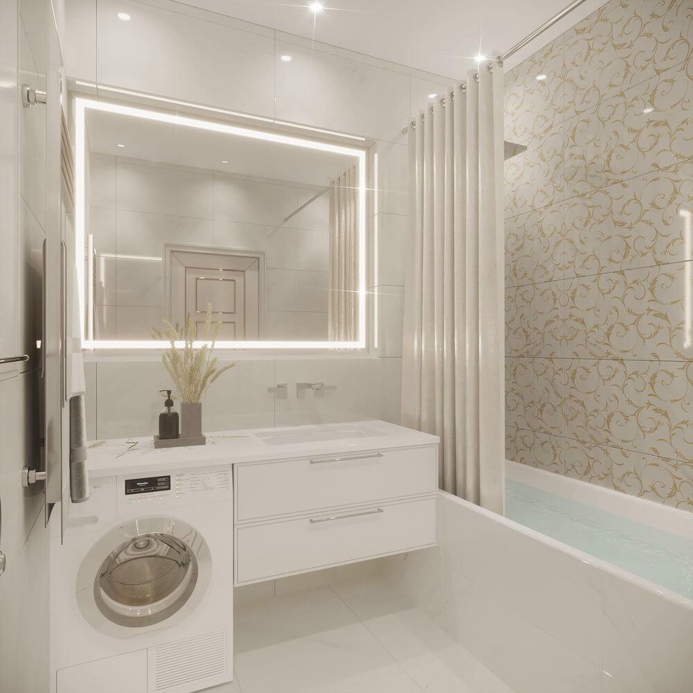 Современные решения ванной комнаты.10