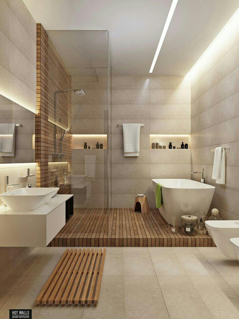 Современные решения ванной комнаты.