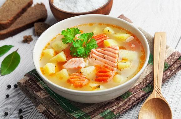 Суп рыбака – из филе красной рыбы «По-Ивлевски».