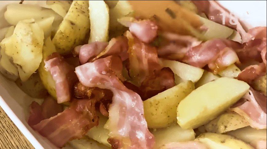 Освежающий холодник и картофель с беконом.2