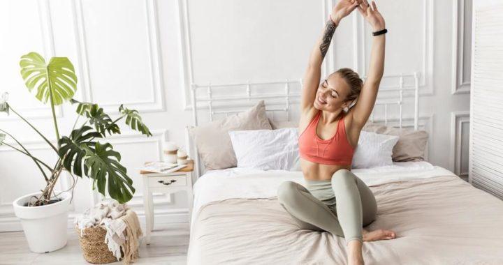 Утренняя 10 минутная зарядка на все тело в кровати.