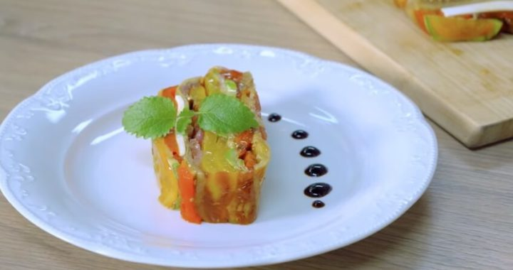 Французская закуска - Террин из овощей.
