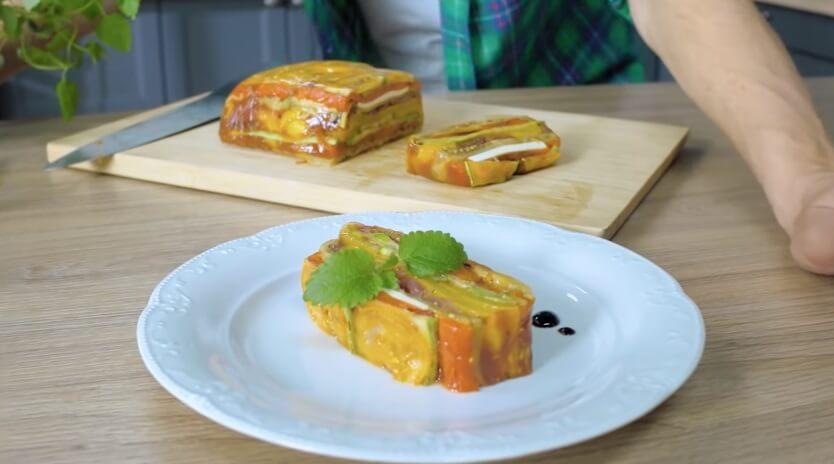 Французская закуска – Террин из овощей.1